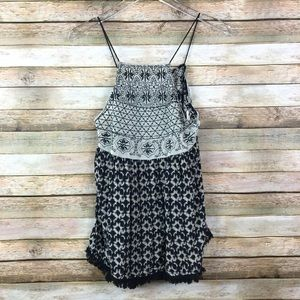 Paper Crane • Tank Top with Tassels and Fringe